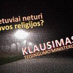 Klausimas Tesingumo ministerijai – lietuviai negali turėti savos religijos? (5 laiškas)