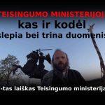 Kas ir kodėl slepia duomenis Teisingumo ministerijoje? (7-tas laiškas TM)